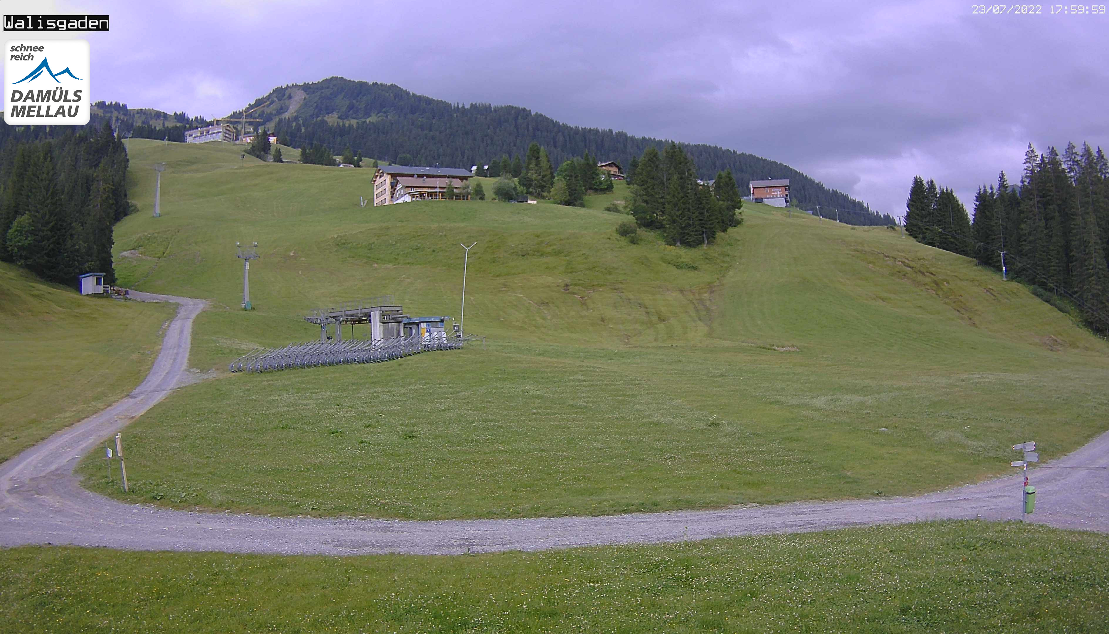 Damuels webcam - Base Station Sunnegg 1.440 m - View to Walisgaden